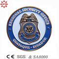 Pièce de métal 3D en alliage de zinc gratuit avec badge Logo de la police