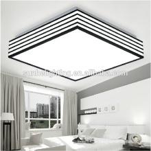 CE Moderne LED Acryl Deckenleuchte drei Abschnitt / dimmbare quadratische Deckenleuchte für Wohnzimmer Beleuchtung