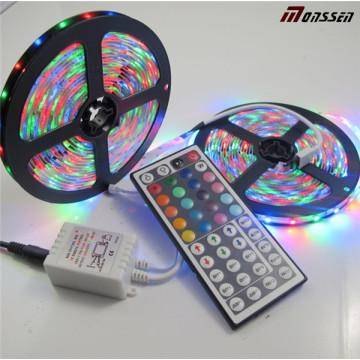 5m 5050 RGBW tira de LED 60LEDs / M RGB con 44 teclas de control remoto IR