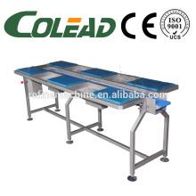 SUS304 mesa de trabalho / seis estação selecionando transportador / trabalhando desktop transportador / vegetal linha de processamento