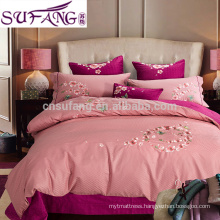 Samples avaliable Embroidery Egyptian Cotton Bed Linen Bedding Set