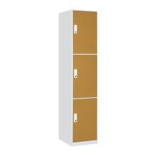 Armário de aço amarelo da sala de mudança 3 porta