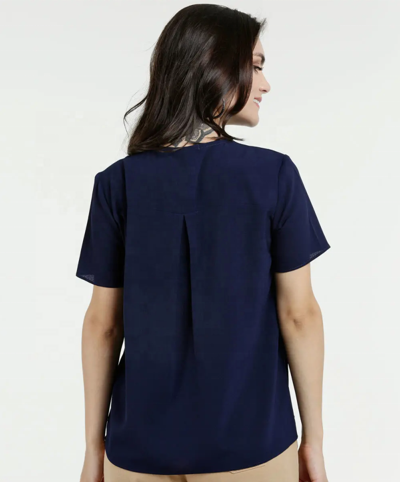 Heißer Verkauf Solid Color Bowknot Pullover Chiffon Tops