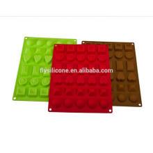 Vários em forma de partido antiaderente Mini Chocolate Silicone Molde