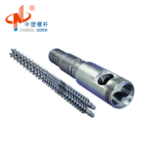 Customized double nitriding conical twin screw barrel extruder for pvc