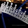 Nueva moda Vintage elegante reina corona belleza reina desfile tocado boda corona Tiaras