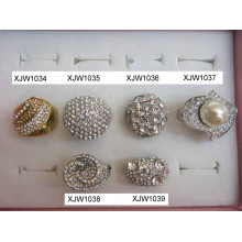 Rhinestone Colorful Rings (XJW1034)