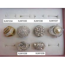 Strass colorido anéis (xjw1034)