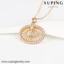 32764- Xuping Jóias Moda Pingente Banhado A Ouro Com Zircão