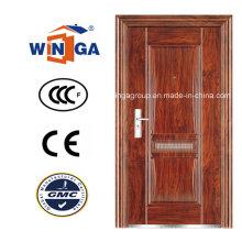Wj Handle Iron Metal Exterior Security Steel Door (WS-109)