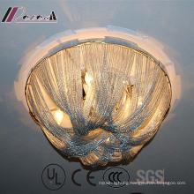 European Design White Aluminium Chain Decorative Ceiling Lamp