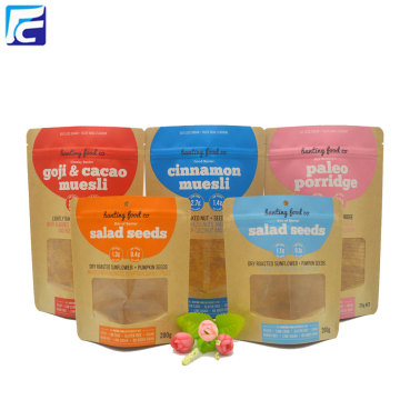 Gravure Printing Kraft Paper Seeds Packaging Bags