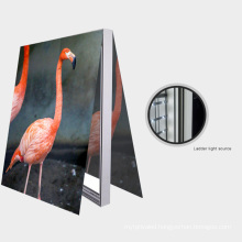 Factory Supplier Edgelight AF55 Advertising Free Standing Decoration Double Side Slim Aluminum Frame Fabric Light Box