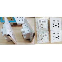 UK-Art Doppel-USB-Port-elektrische Wand-Ladegerät-Station / Sockel / Adapter / Power / Outlet / Panel