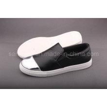 Chaussure en cuir ciré occasionnel pour femme