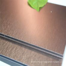 Painel composto de alumínio decorativo de cobre escovado