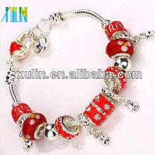 novo produto vermelho óleo gotejamento contas sterling chapeamento pulseiras de prata