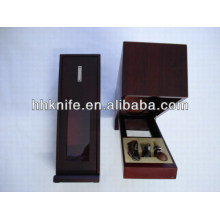Wine Tool Set with red wooden box