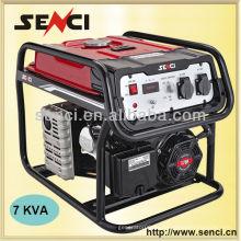 7000 Watt SC8000-II 50Hz Einphasiger tragbarer Generator mit Rädern
