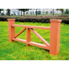 1200*600 2014 Eco-Friendly Hot Sale Cheap Outdoor Wood Plastic Composite WPC Fence