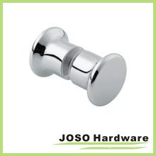 Bathoom Brass Glass Door Pull Chrome Knobs (DKB05)