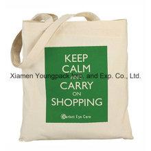 Eco Friendly Reutilizable lona de algodón 100% natural reciclado Bolsa de compras