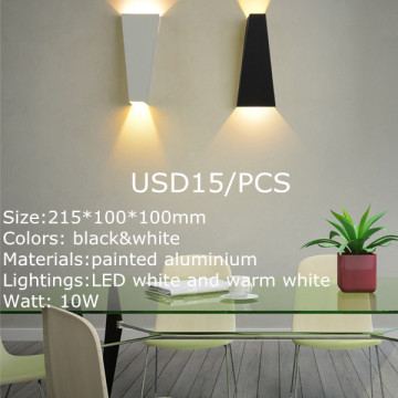 Luces LED de pared negras grandes con cable