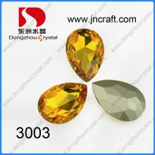 Light Topaz Teardrop Crystal Fancy Stones