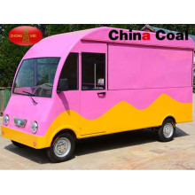 Розовый мобильный быстрого питания грузовик для продажи в Европе