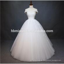 Luxushülsen schwere Perlen Stickerei China Guangzhou Hochzeitskleid