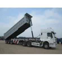 China Three Axles 35 Cbm 45ton Dump Semi Trailer with Hooks
