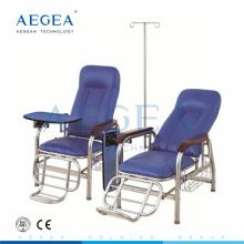 AG-TC001B avec la chaise de perfusion médicale réglable en cuir d'hôpital de traitement de patient de PVC