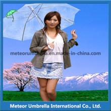 Straight Promotion Gift Colorful Transparent PVC Clear Bubble Umbrellas