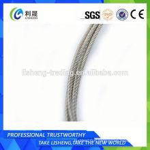 Corde à fil d'acier non galvanisé 6x7 5mm