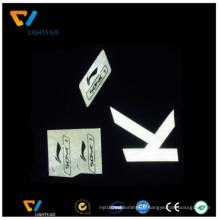 impressão de transferência de cor cinza prata reflexivo filme de vinil