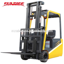 High Quality 1.5 ton Four Wheel Electric battery operated Forklift truck