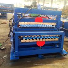Materiales de construcción de edificios Teja de cubierta doble que hace el rodillo que forma la máquina