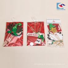 Inserção feita sob encomenda do cartão dos ofícios de papel do Natal do bolo de aniversário 3D da promoção