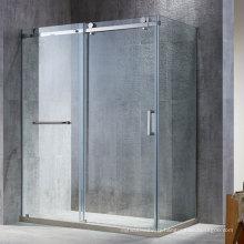 Seawin Black Steel Wheels Complete bathroom sliding Enclosure Shower Rooms