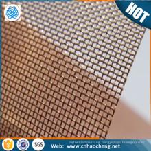 Papel que hace la malla de alambre del bronce fosforoso para filtrar la tela