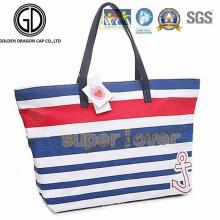 Shoulder Fashion Shopping Canvas Cotton Zipper Tote Bag for Beach