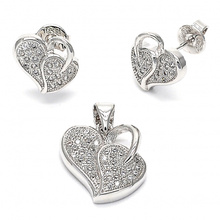 Fashion 925 Sterling Silver Jewelry Set Micro Setting