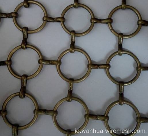 Stainless steel cincin dekoratif wire mesh