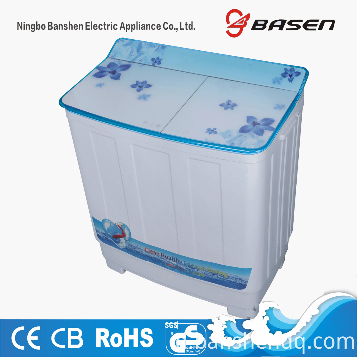 7.5kg twin tub blue