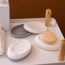 Bandeja de soporte de barra de artículos sanitarios para baño, mostrador, ducha, cocina, esponjas, fregadoras, jabonera de silicona