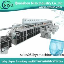 Full Servo Automatic Huggies Baby Pull on Diaper Baby Training Pants Diaper Making Machine with Mitsubishi