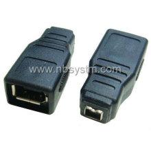 Adaptador de hembra FireWire 1394 6P hembra a 4P
