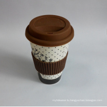 (BC-C1037) Eco Bamboo Fibre Coffee Cup with Print