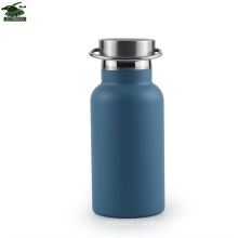 Keep cool 24 hrs, double walled thermos insulated water bottle