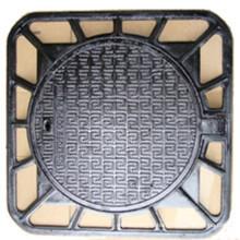 Couvercle de trou d'homme en fonte ductile à cadre carré
